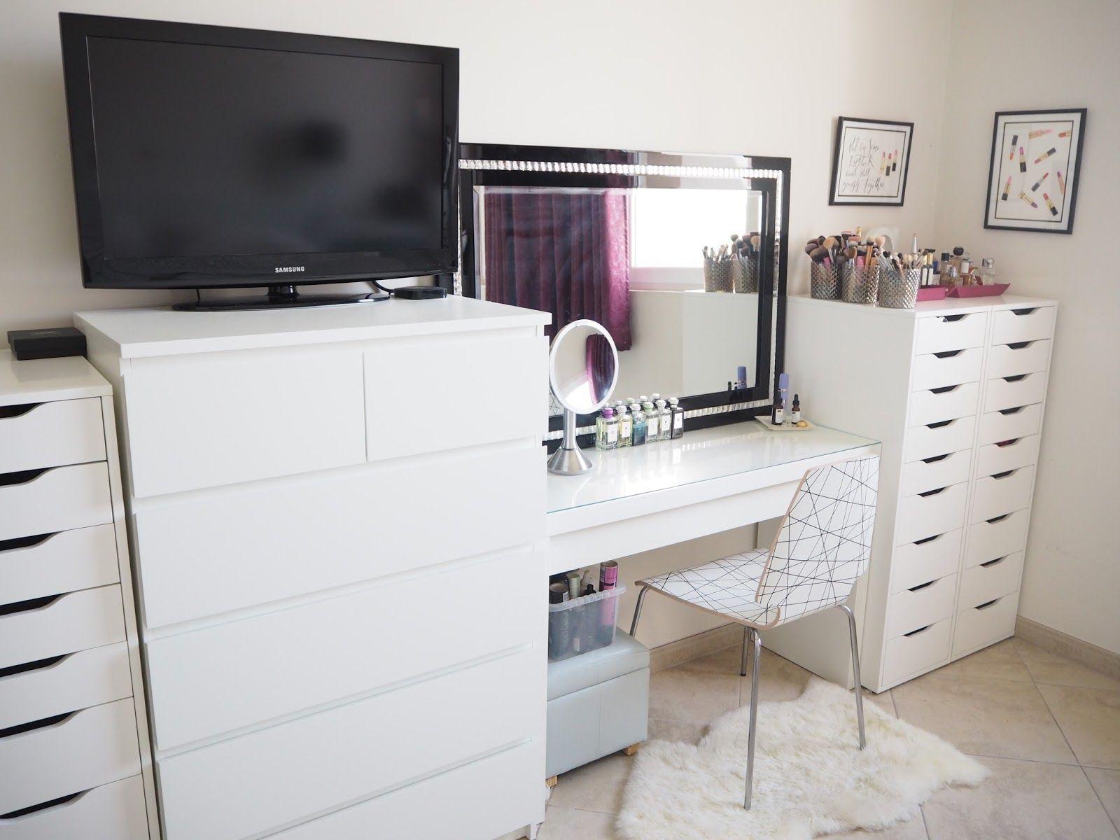 My Make Up Storage/vanity/bedroom Tour  Expat Make Up Addict Make