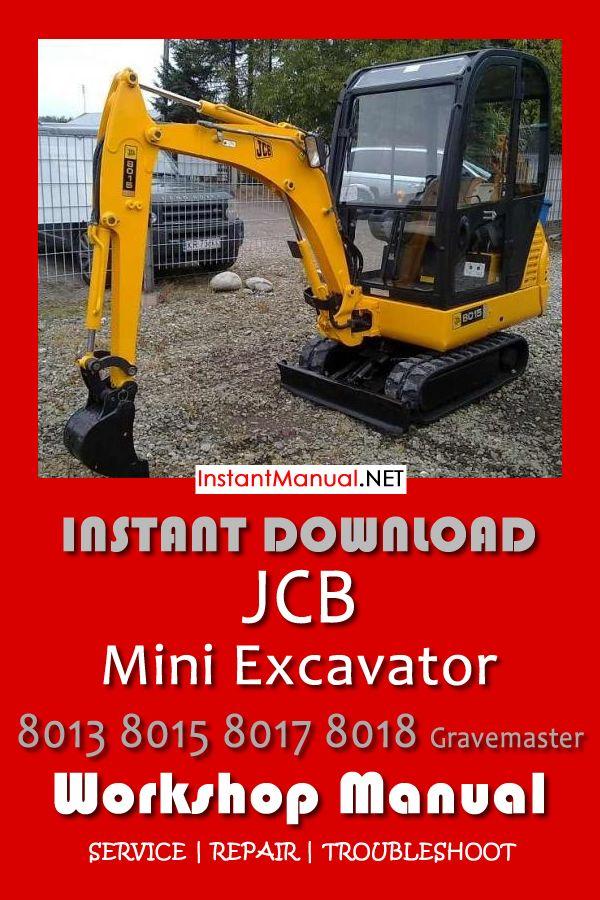 Jcb 8013 8015 8017 8018 Gravemaster Mini Excavator Service