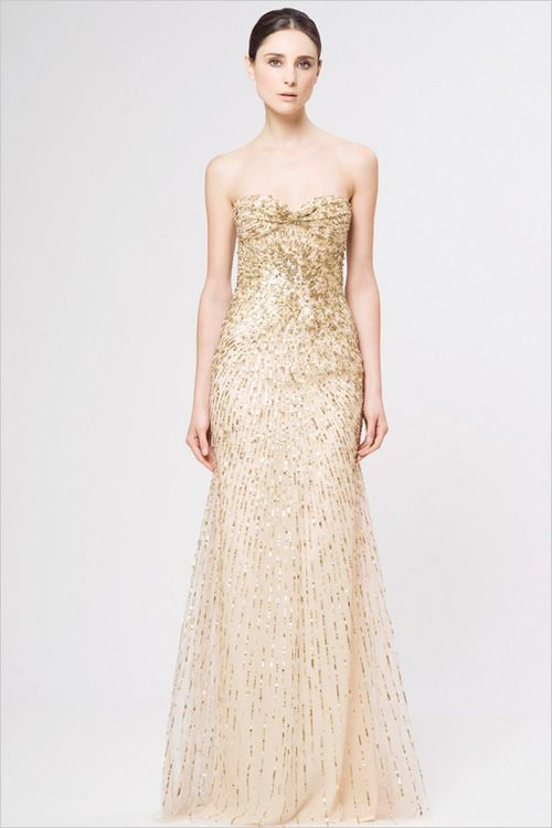 I love this wedding dress because you hardly ever see a bride in a gold wedding even I'm 15 now I know as a bride you want to stand out and I would really stand out in this dress
