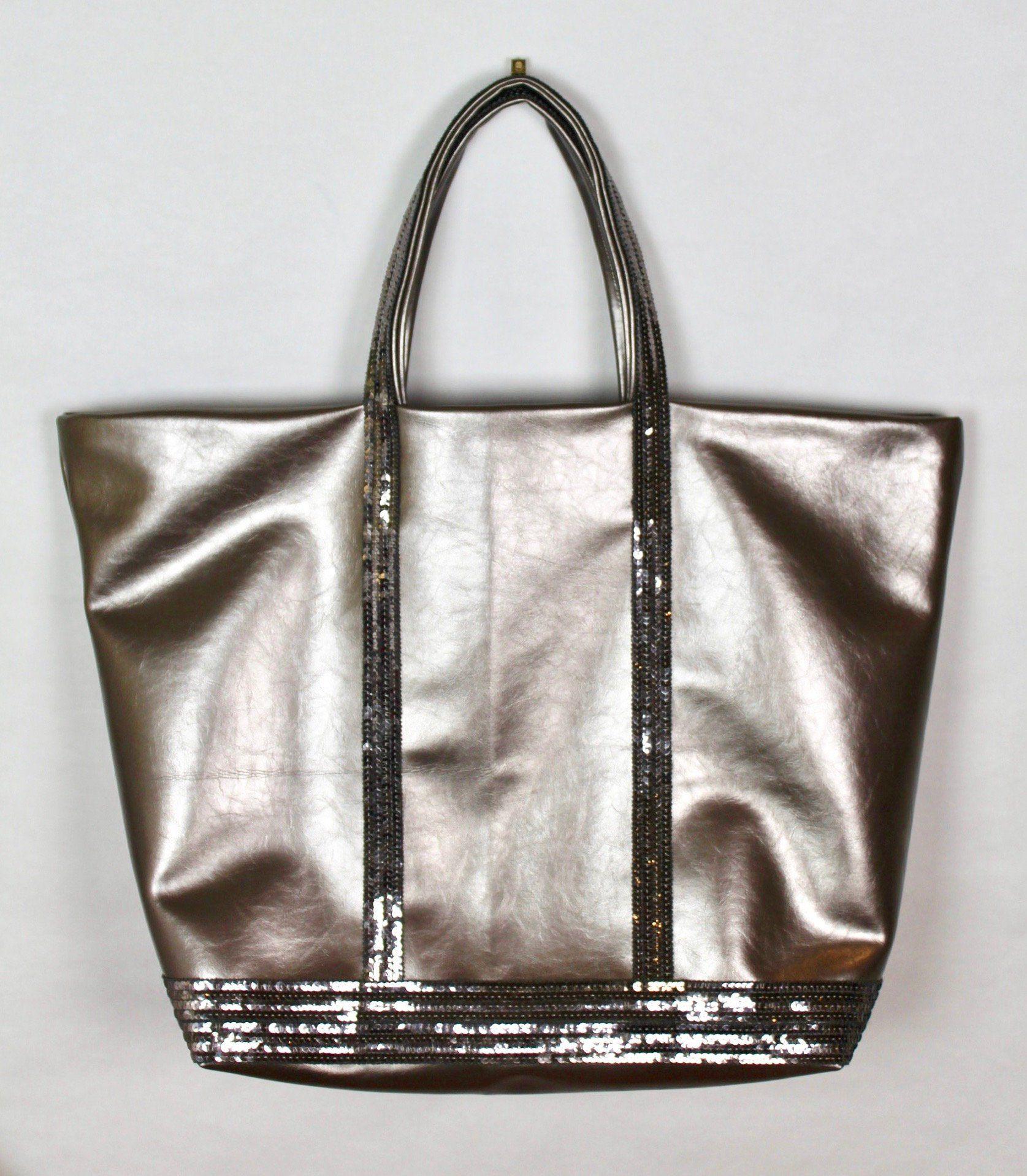 site réputé 29c06 1c2ff Vanessa Bruno style grand sac cabas en simili cuir doré fait ...