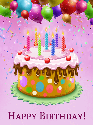 Colorful birthday cake card pinterest birthday cakes happy birthday and birthdays - Happy birthday cake picture ...