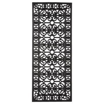 Smith Amp Hawken 174 Decorative Black Rubber Door Mat 46x18