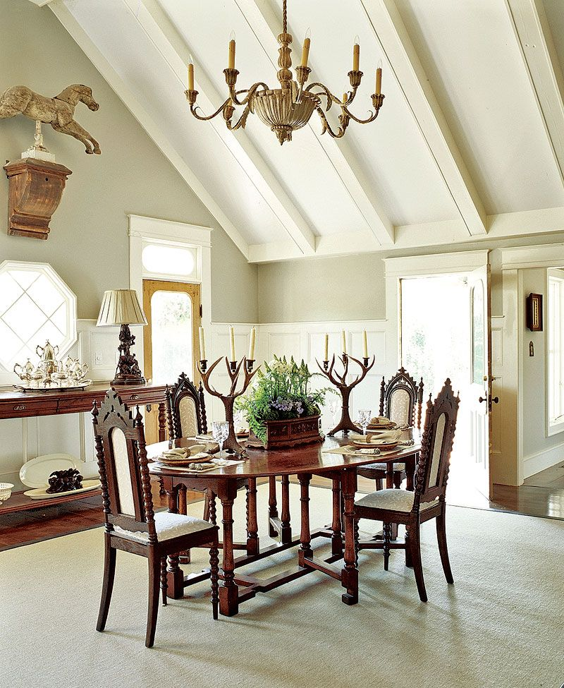 Victorian Traditional Dining Rooms: Casual Dining Rooms, Antique Dining Chairs