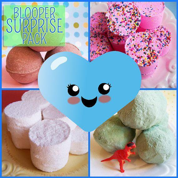 Bath Bomb Blooper Surprise Pack - Bath Bombs, Bath Fizzy, Blooper ...