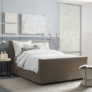 Urban Bed Luxe Velvet Westelm Height 47 75 With Images