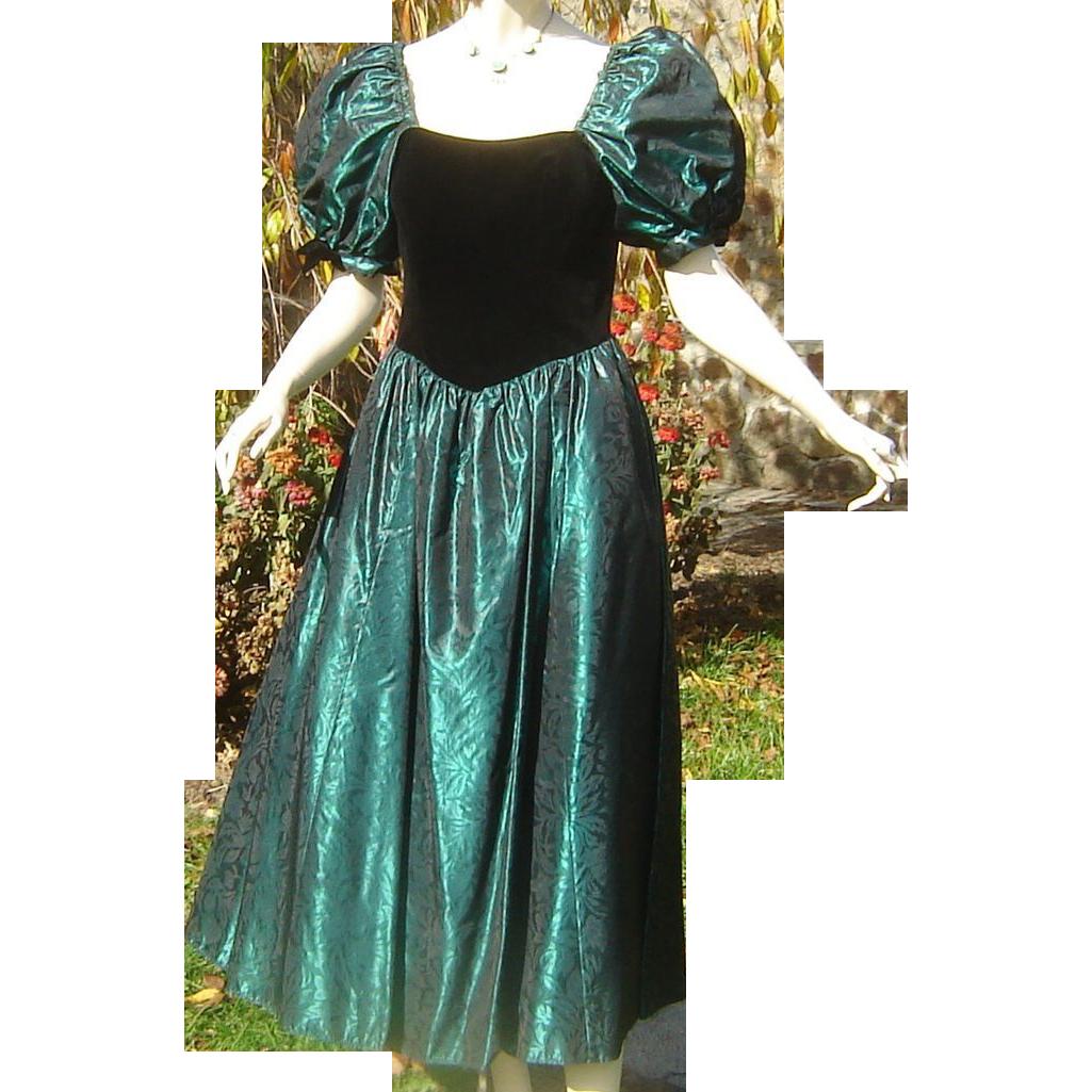 Vintage Laura Ashley Corset Party Dress Velvet Taffeta, offered by ...