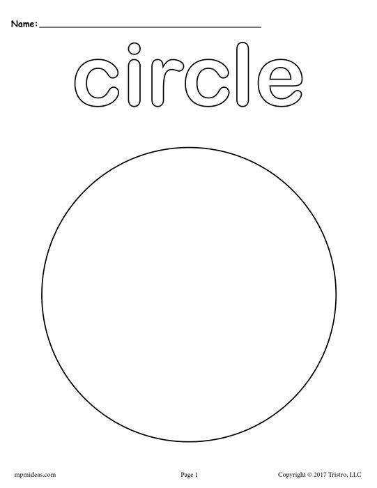 Free Printable Circle Coloring Page Shape Coloring Pages Preschool Coloring Pages Shapes Preschool