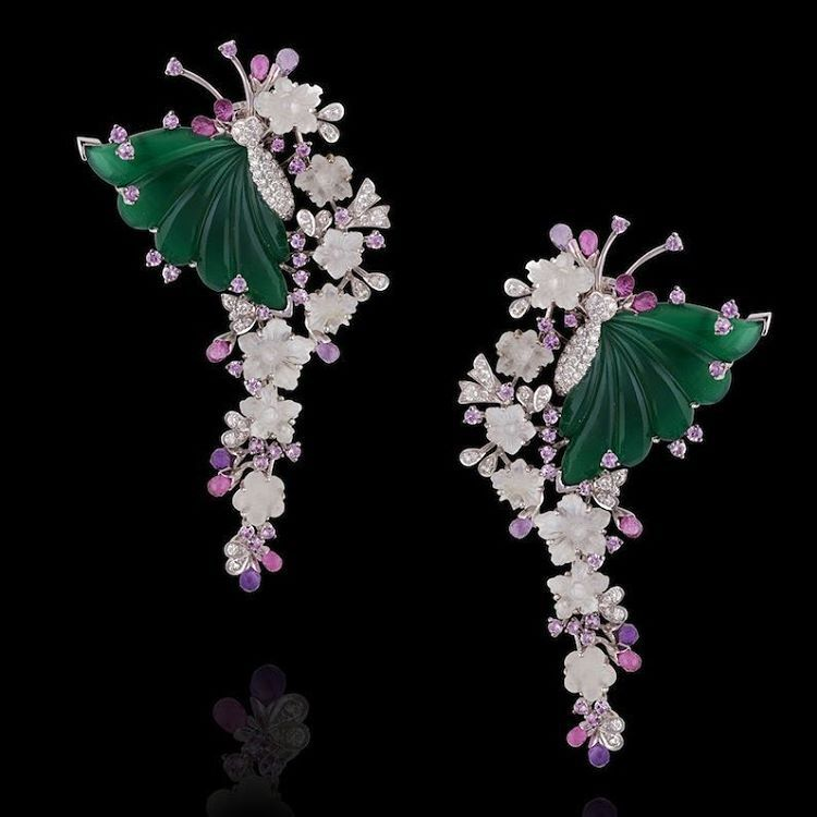 thejewellclosetStunning exquisite Butterfly Earring With 86.35 cts of glowing pink sapphires, amethyst and rubellite are used in the creation of these butterfly earrings by Mirari @thejewellcloset #earrings
