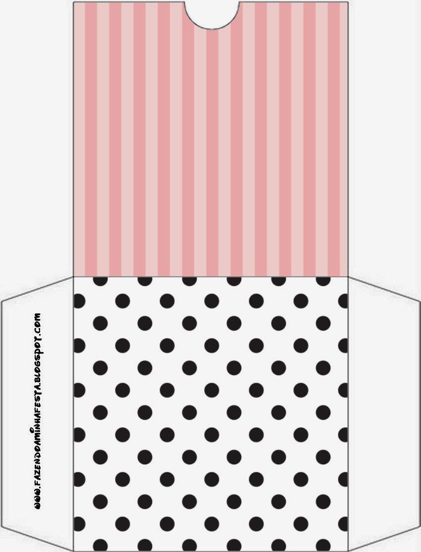 Rayas Rosa y Lunares Negros: Etiquetas para Candy Bar para Imprimir Gratis. | Ideas y material gratis para fiestas y celebraciones Oh My Fiesta!