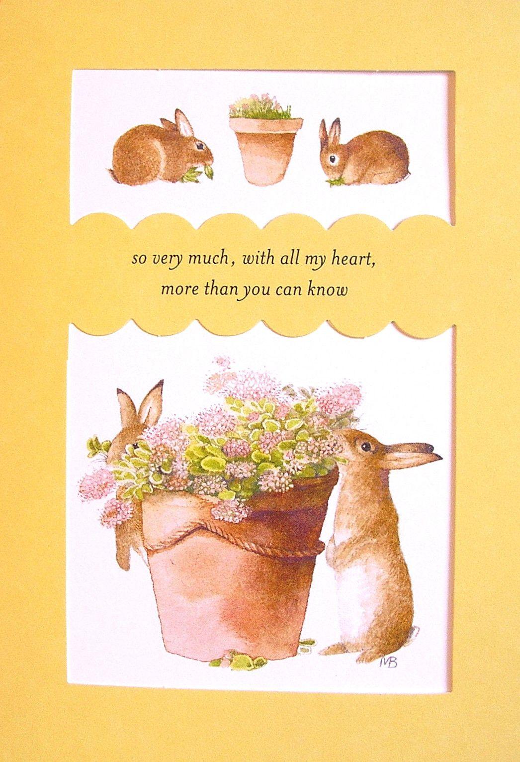 Marjolein bastin bunny rabbit terracotta pot flower thank you marjolein bastin bunny rabbit terracotta pot flower thank you greeting card new ebay kristyandbryce Images