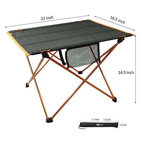 Meici Picnic Table Aluminum Folding Portable Durable Lightweight