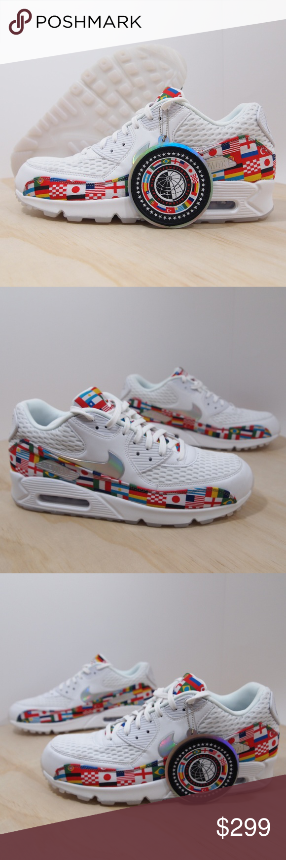 huge selection of 4e2a1 6e477 Nike Air Max 90 NIC QS International Flag Pack Men 100% Authentic. Pre-