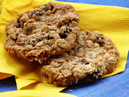 Soft...Best oatmeal cookies I've made so far! I just did'nt have raisins =( But great recipe!!