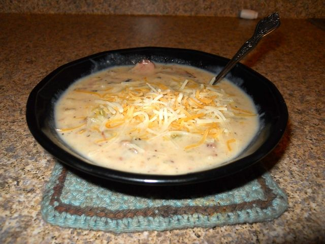 Smoked Brisket Potato Soup - made this with left over Christmas ...