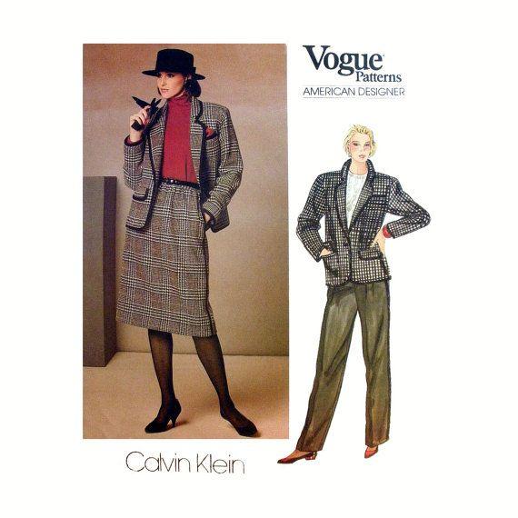 Vogue American Designer Calvin Klein Suit by PurplePlaidPenguin