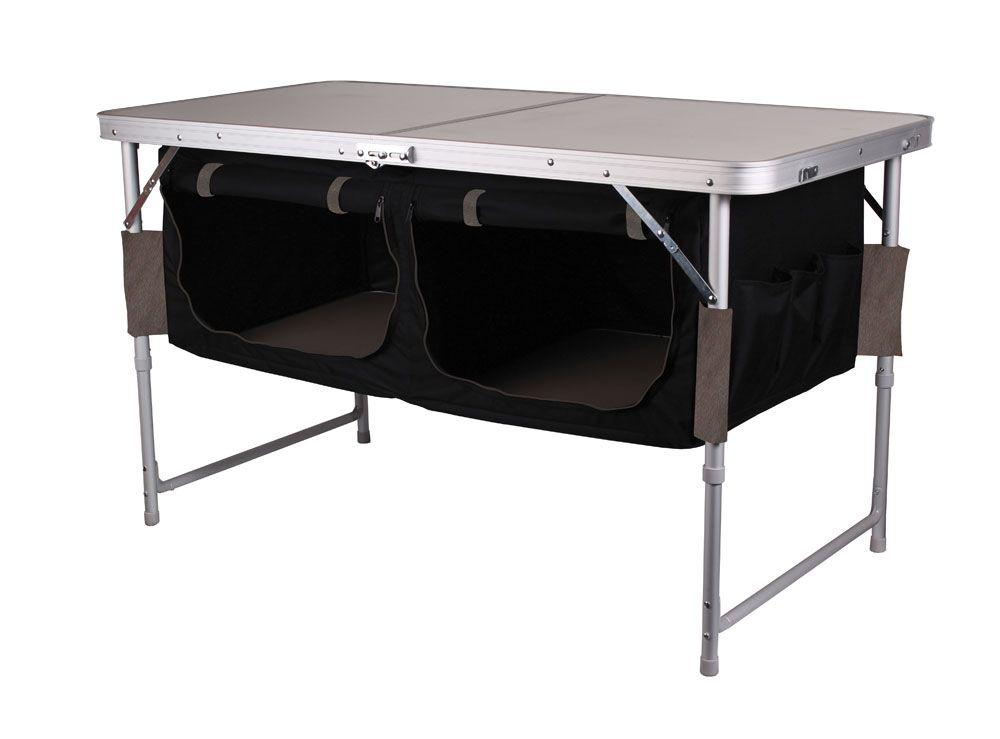 Kiwi Camping Bi Fold Table with Pantry at EquipOutdoors Camping