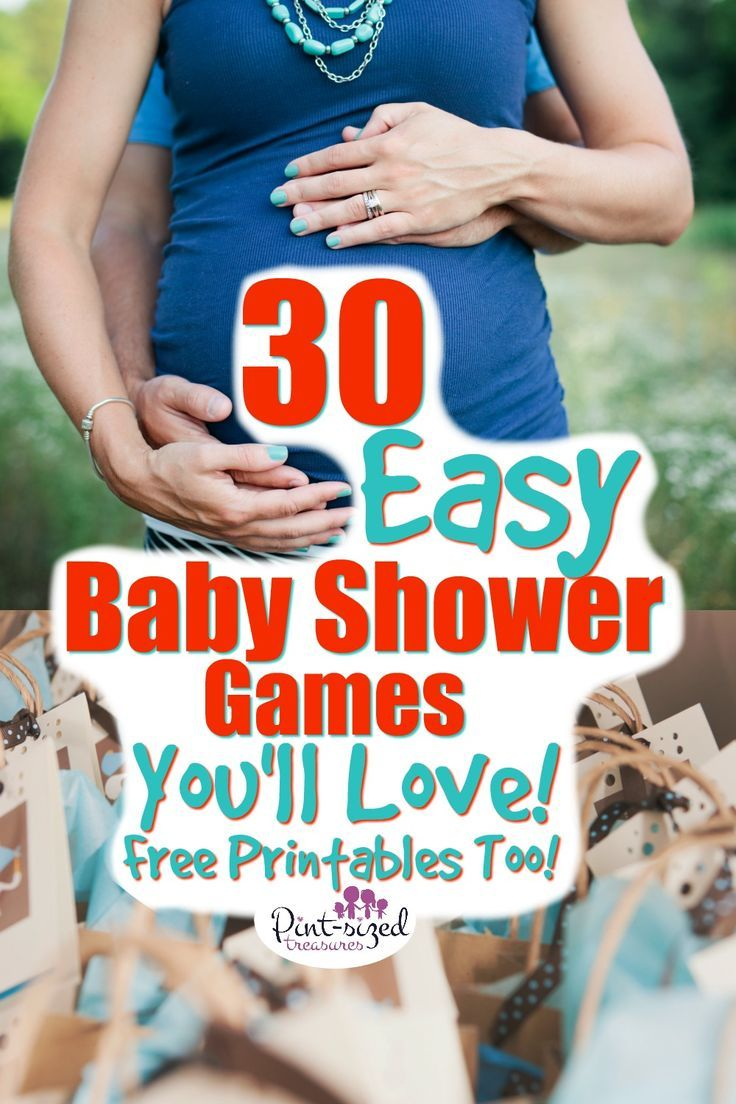 30 Easy Baby Shower Games that are FUN