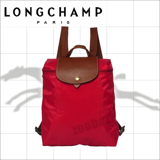 56.43$  Watch here - http://visju.justgood.pw/vig/item.php?t=5i3grnn51430 - LONGCHAMP RED Womens LE PLIAGE BACKPACK CarryAll, School Travel Bag One Size 56.43$