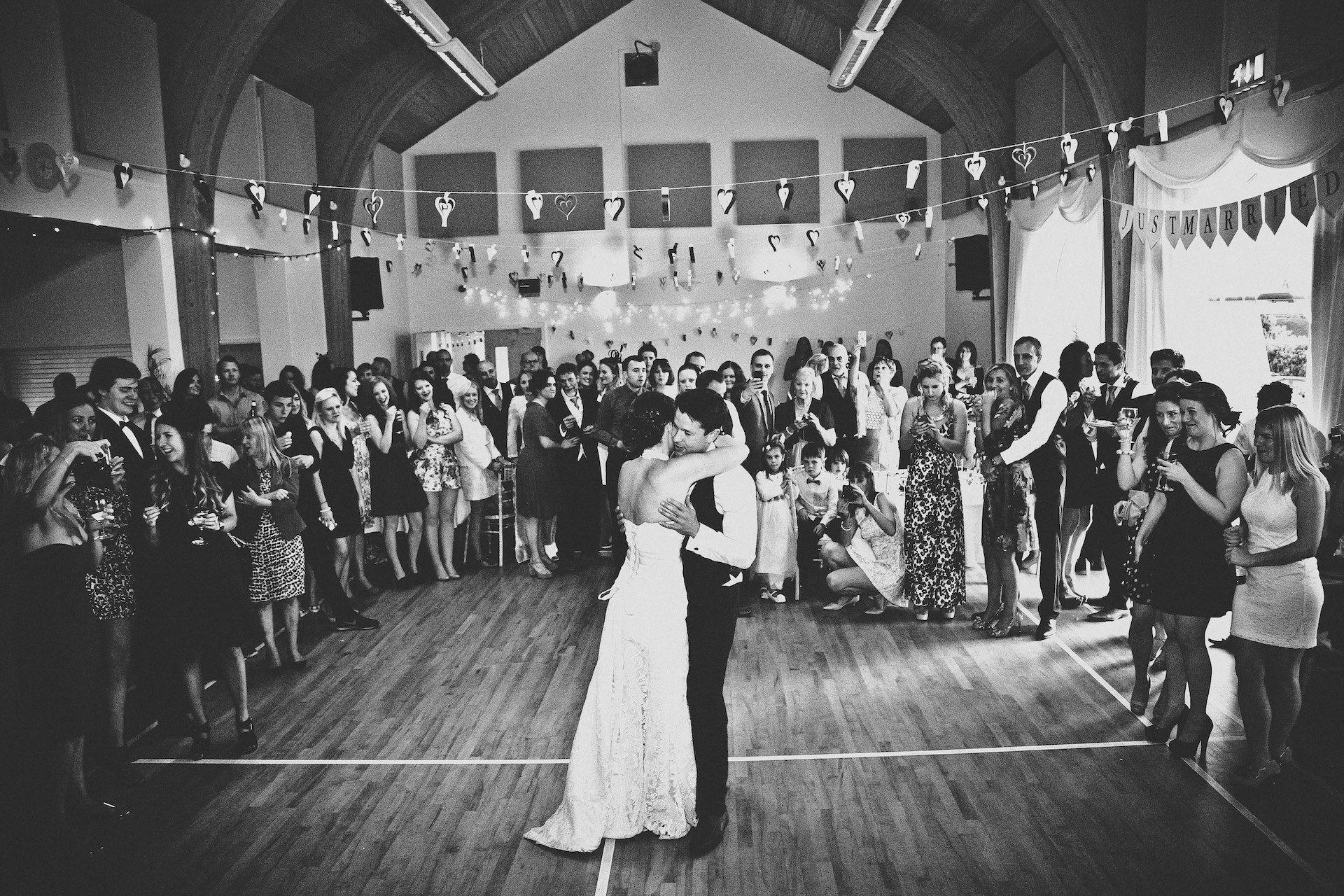 wedding reception venues north yorkshire%0A Danielle and Ian  First Dance  Wedding  Photography  Kettlesing Millennium  Hall  Harrogate    North YorkshireMy