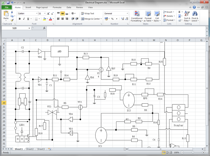 Circuit Diagram for Excel | Diagram, Circuit diagram, Process flow diagramPinterest