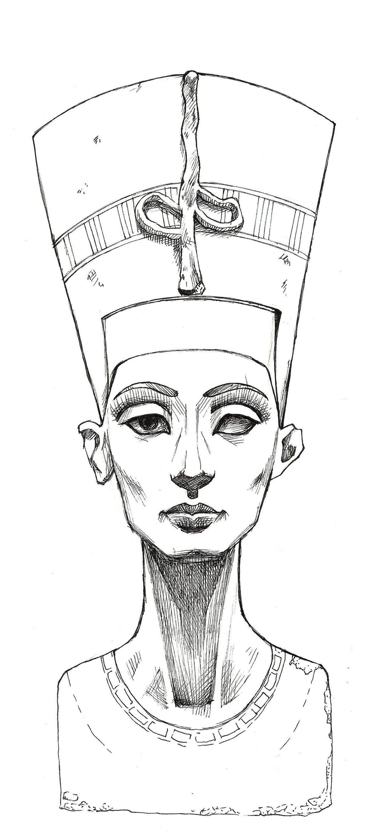 nefertiti sketch nefertiti lines by mybonsaipatroclo on deviantart isis digital art drawing. Black Bedroom Furniture Sets. Home Design Ideas