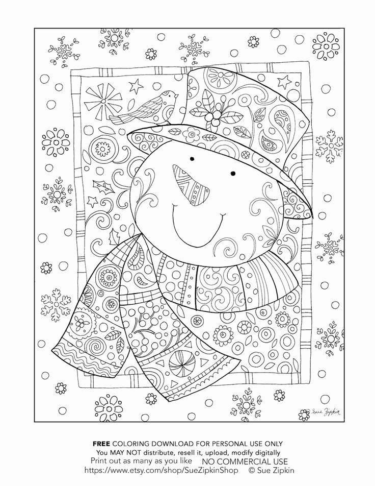 Dibujos para colorear de muñeco de nieve para adultos