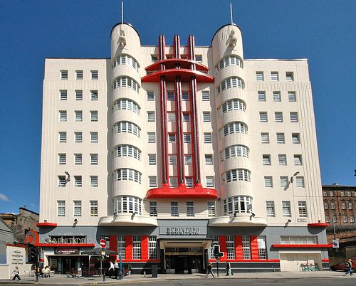 Art Deco Glasgow The Recently Red Beresford Hotel Building Sauchiehall Street Is