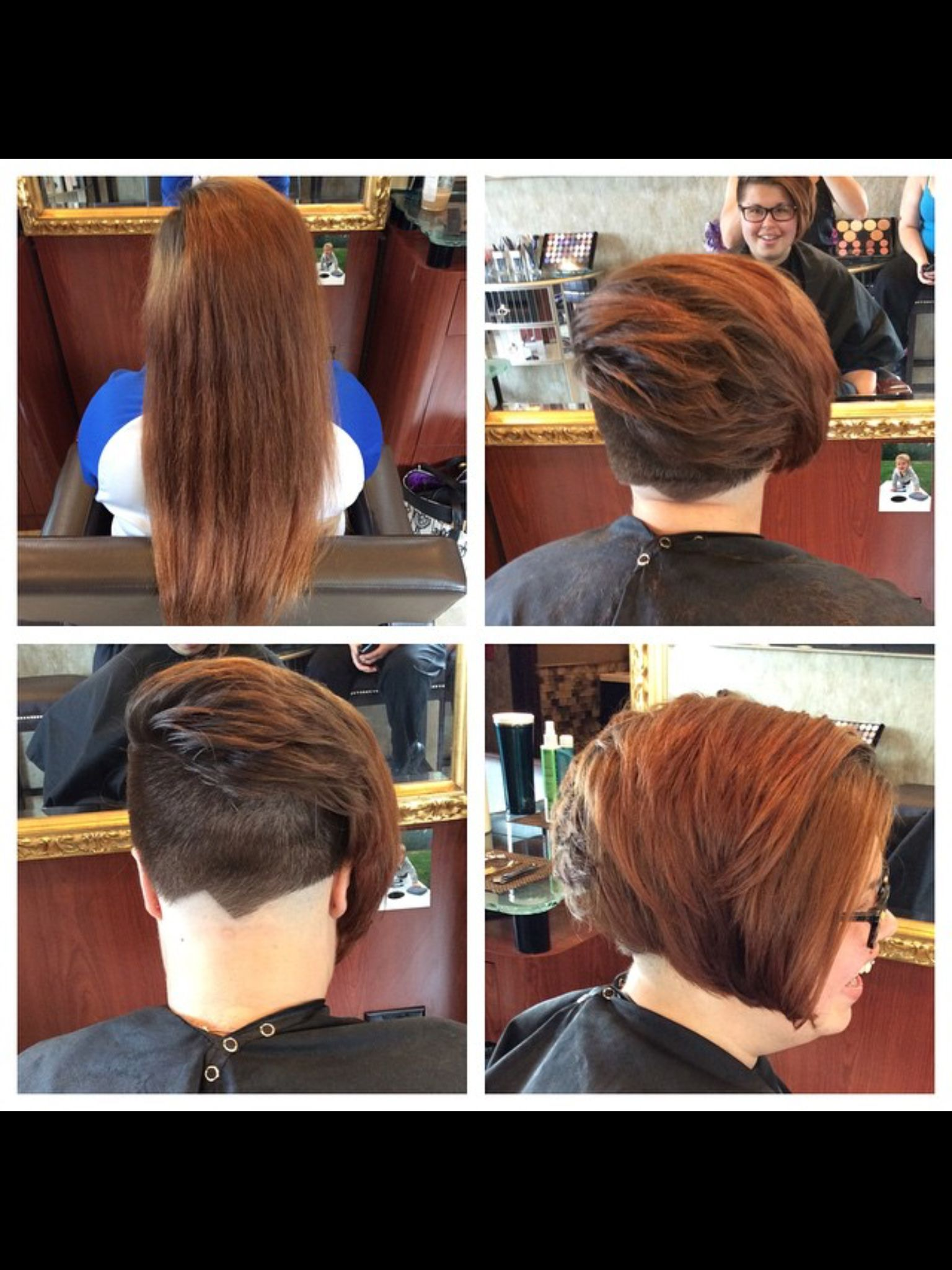 Before and after short hair undercut before and afters by kjs