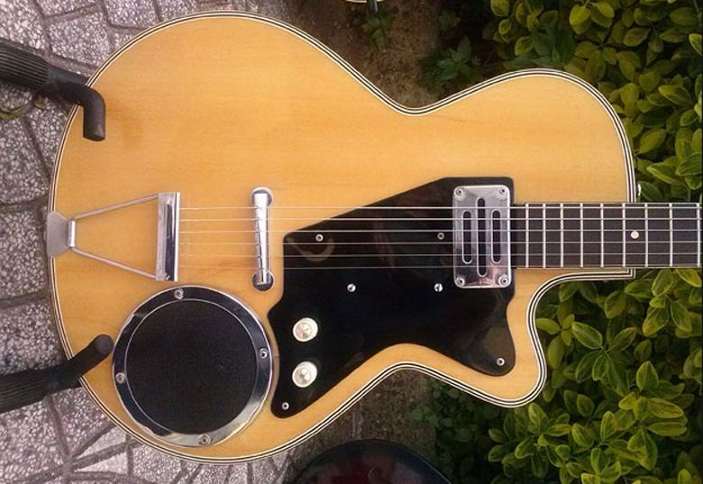 Guitar With Built In Amp And Speaker Google Search Guitare Electrique Guitare