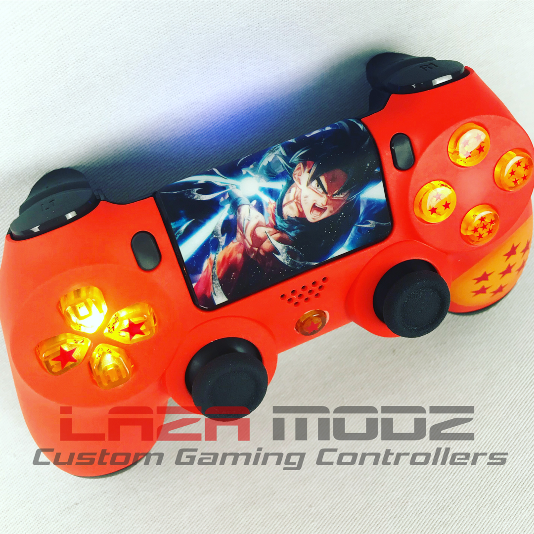 Dragonball Z Custom Ps4 Controller Led Light Up Buttons Light Up D Pad And Custom Touch Pad Order Yours Ps4 Controller Ps4 Controller Custom Dragon Ball Z