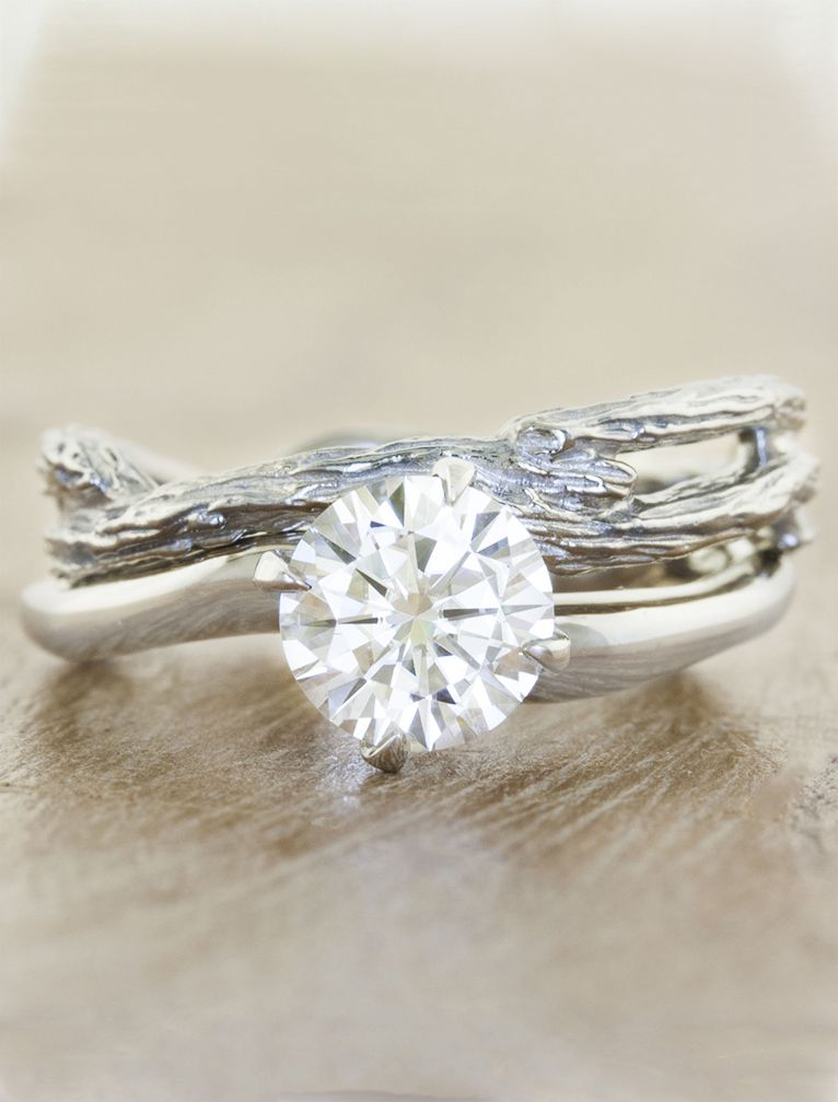 wedding inspired her sq lwc nature engagement ring round brilliant solitaire diamond for twig rings unity oe