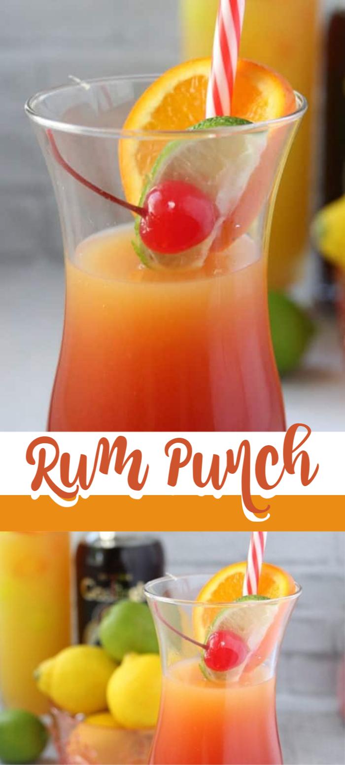 Rum Punch Rum Drinks Recipes Pineapple Rum Rum Punch