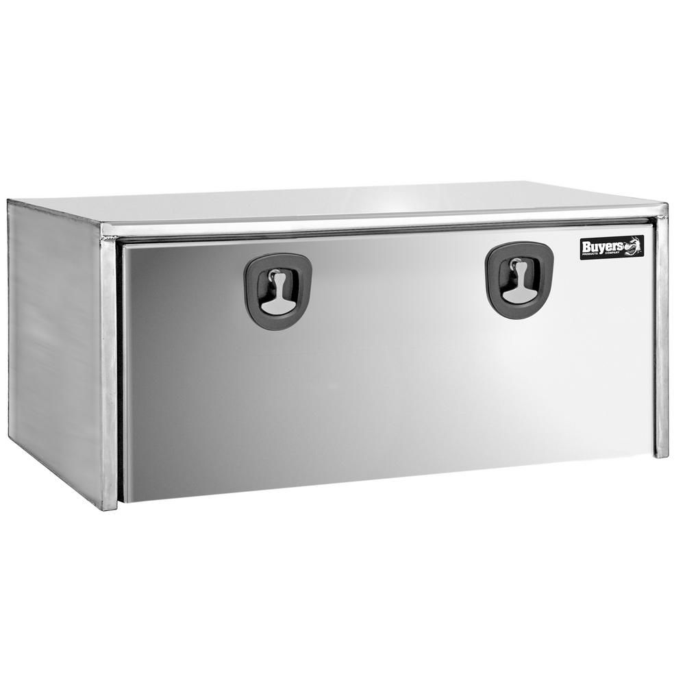 Buyers Products Company 48 Uncoated Steel Underbody Truck Tool Box Truck Tool Box Stainless Steel Doors Truck Tools