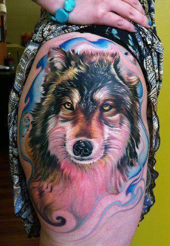 733c90389da81 intense detailed wolf head | Tattoo - Color | Tattoos, Weird tattoos ...