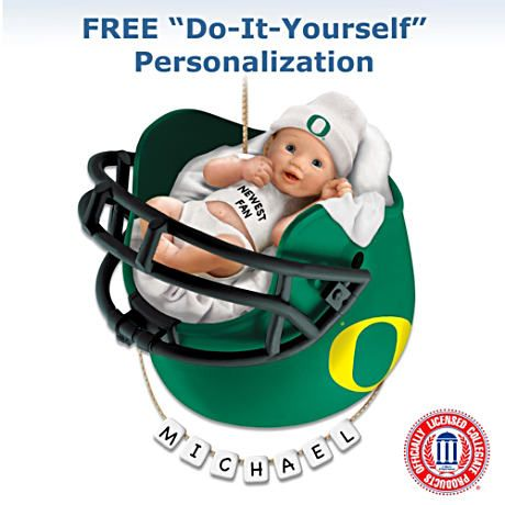 Oregon Ducks Baby's First Ornament $29.99 #Ducks