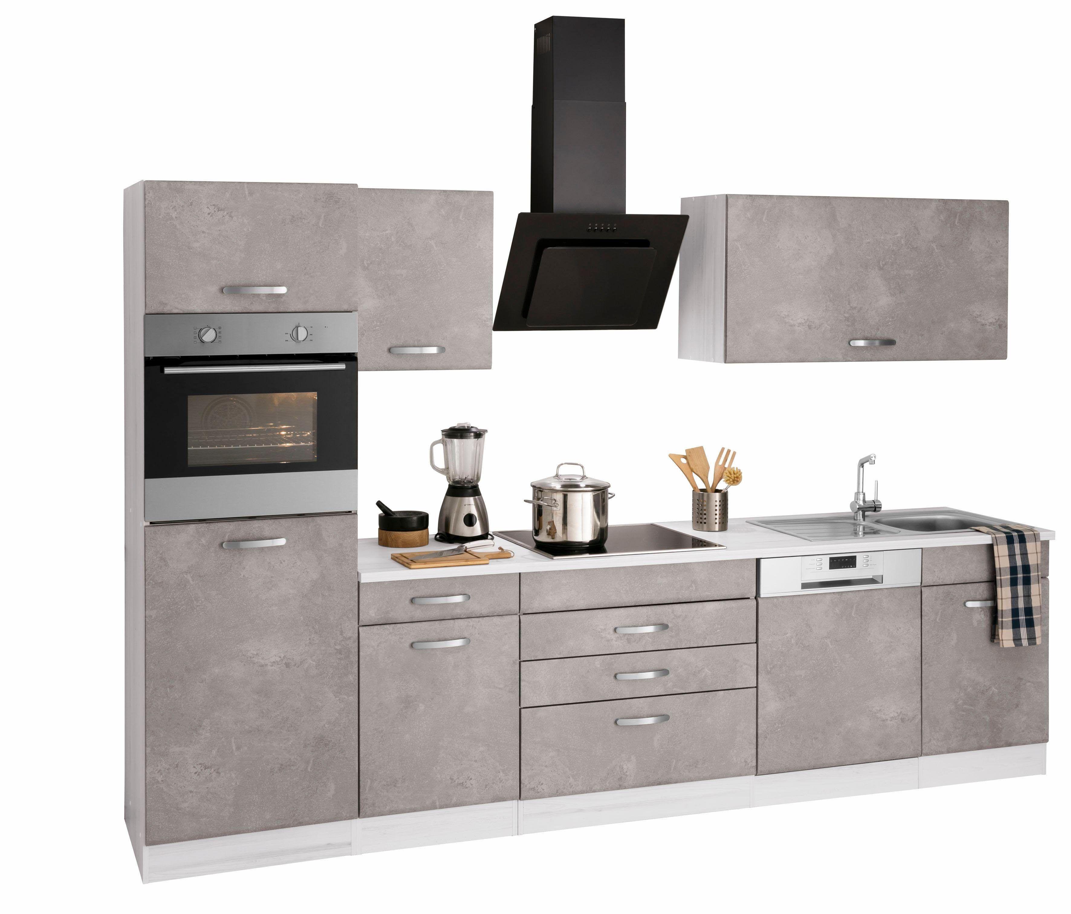 Küchenzeile mit EGeräten »York« grau, mit Aufbauservice