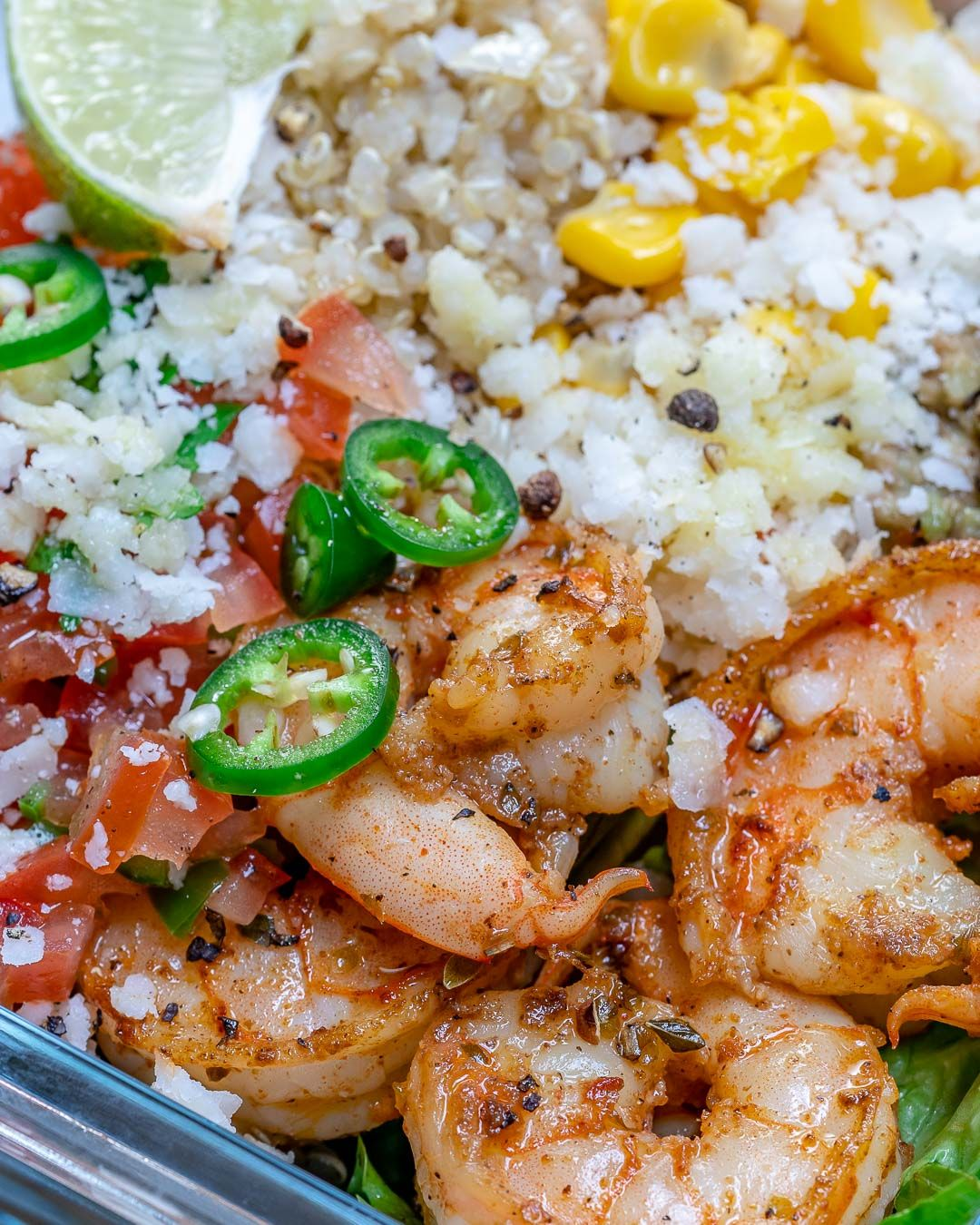 Quinoa Shrimp Burrito Bowls