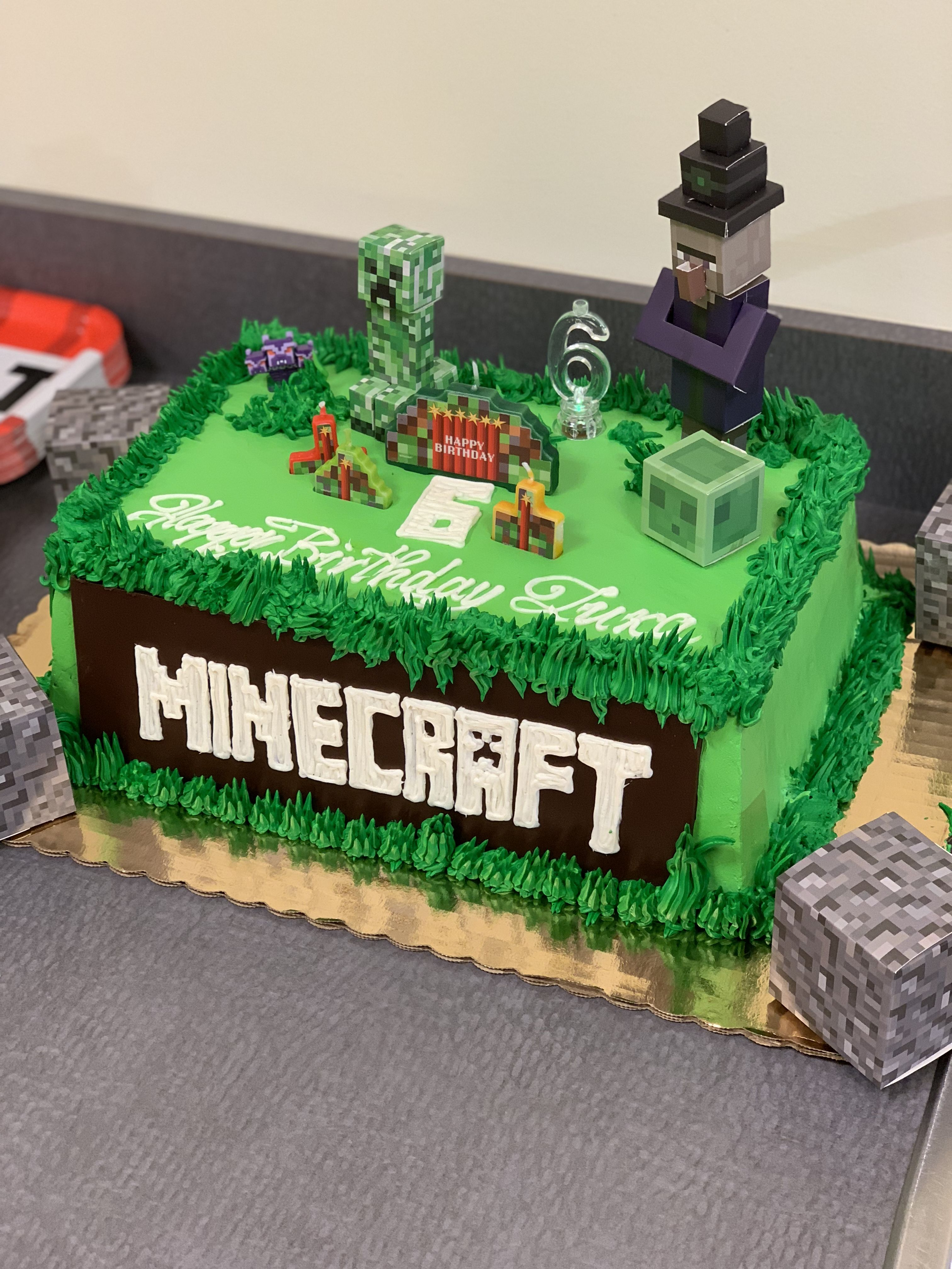 Minecraft birthday cake decorations  Ideias de festa de
