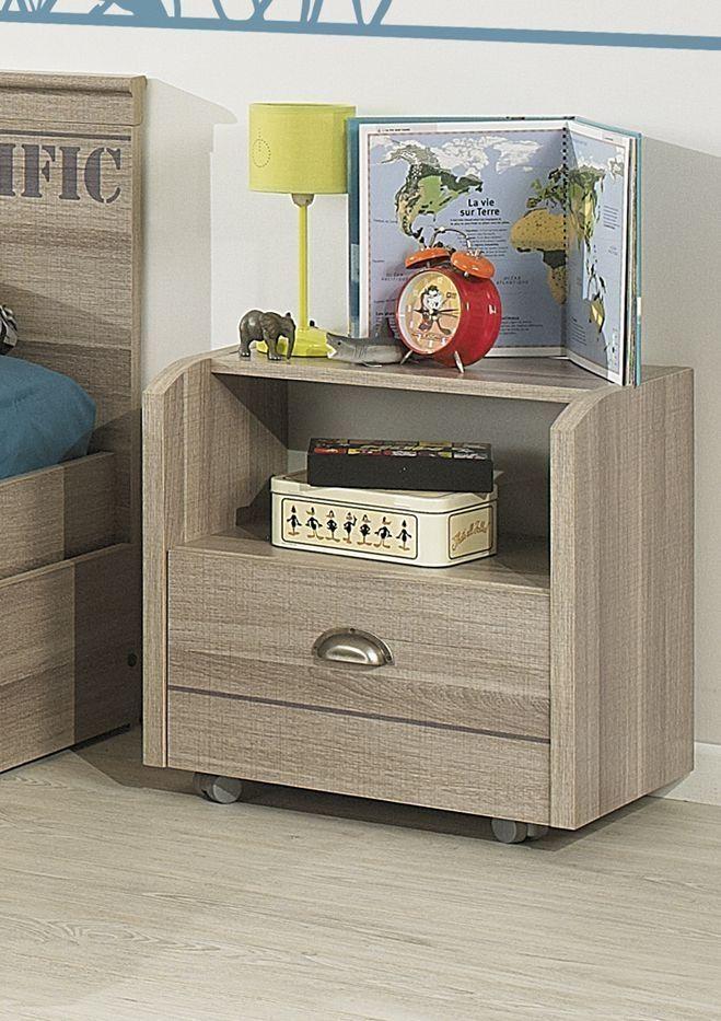 b9d67865f63f Gami Largo Grey Oak Bedside Cabinet - 1 Drawer Panels in Grey Ash effect  foiled particleboard