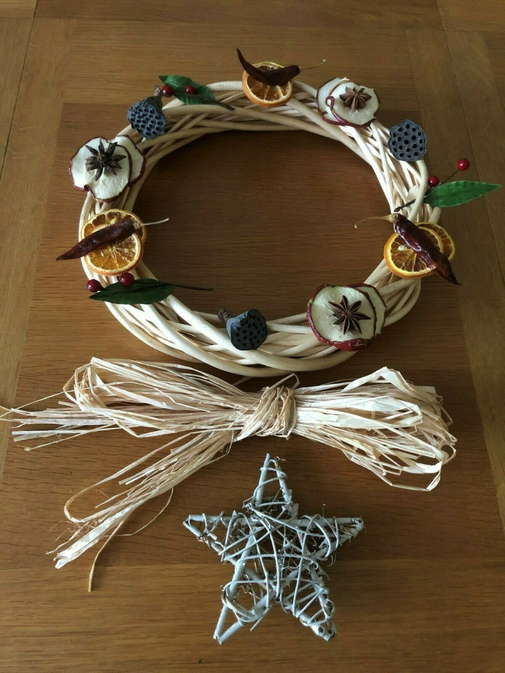 Details about DIY Christmas Willow Wreath Making Kit (No 4