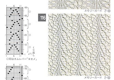 possibly lace for silver reed   Перфокарты   Pinterest   Lochmuster ...