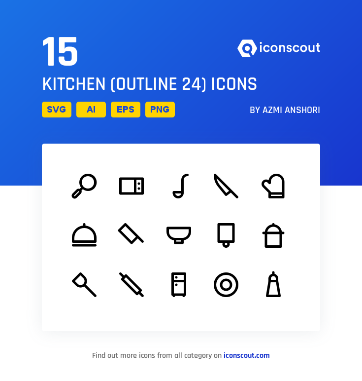 Download Kitchen Outline 24 Icon Pack Available In Svg Png Eps Ai Icon Fonts Icon Pack Icon Outline