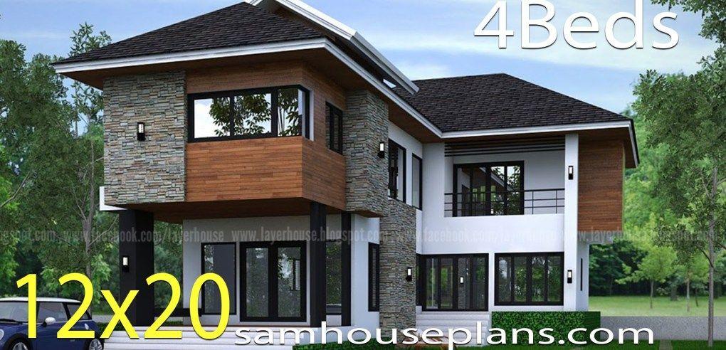 Best House Plans Idea 12X20 M With 4 Bedrooms House Plans 400 x 300