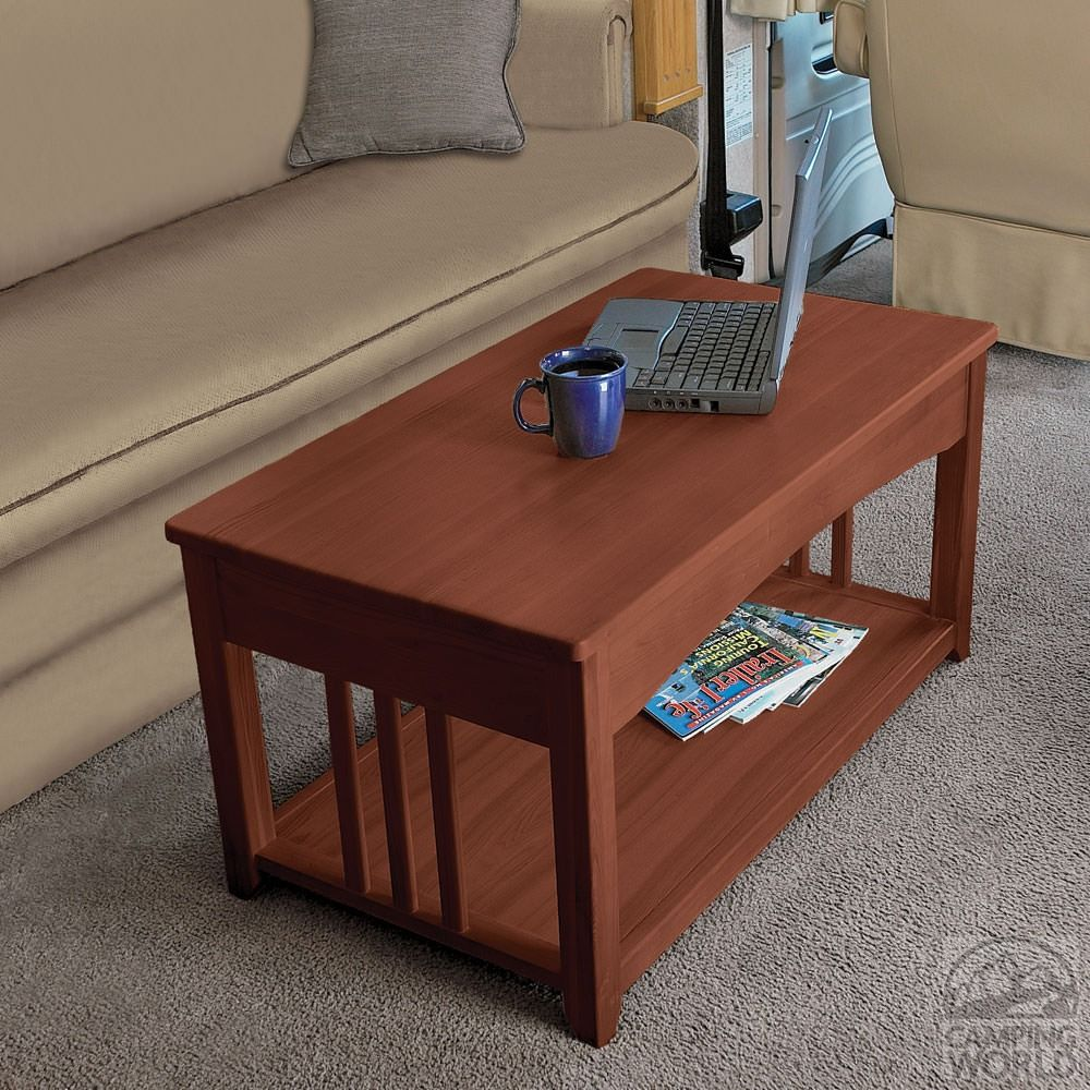 Perfect Swing Up Coffee Table   Walnut   Four Corners D32 0002   Tables