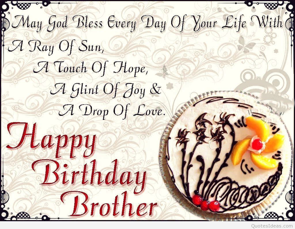 Happy Birthday Quotes For Brother Quotes Birthday Wishes For