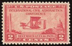 1928 2c Aeronautics Conf. Wright Brothers 25th Anniv. Scott 649 Mint F/VF NH  www.saratogatrading.com