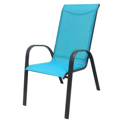 Room Essentials Nicollet Patio Stacking Chair Turquoise You Can Leave Them Outside