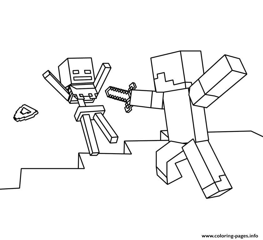 Print Roblox Vs Minecraft Coloring Pages