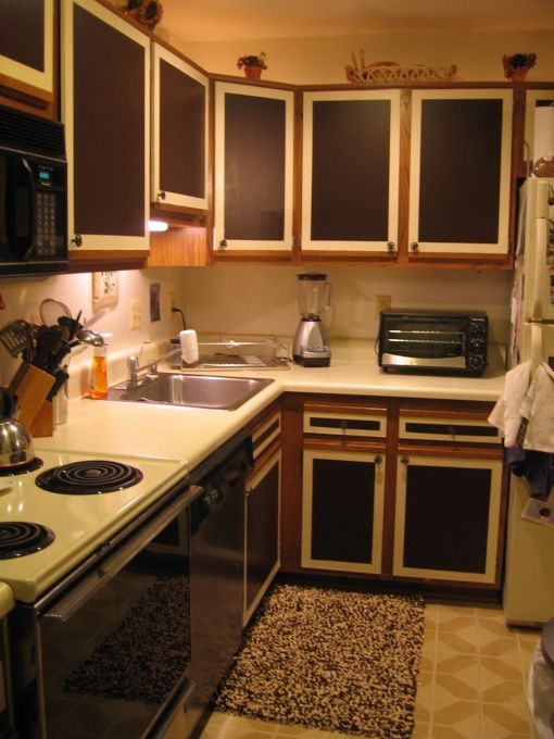 Low Budget Kitchen Makeover Formica Cabinets So Ive D My For Years And Decided To Repaint Them Since I Dont
