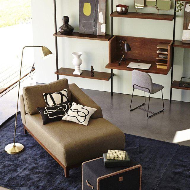 Coin bureau dans un salon design bibliothèque avec petit bureau ...